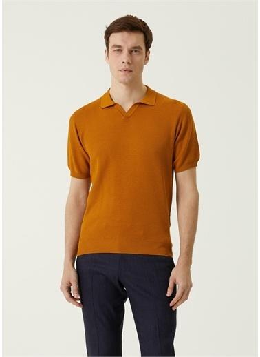 Corneliani Polo Yaka T-shirt Taba